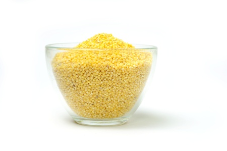 An image of millets in a transparent bowl