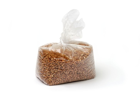 An image of buckwheat in a transparent bag Stock Photo - 12203952