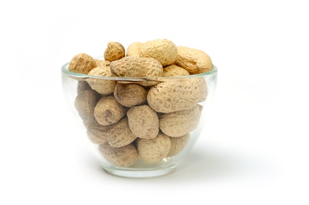 allergic ingredients: An image of peanuts  in a transparent bowl