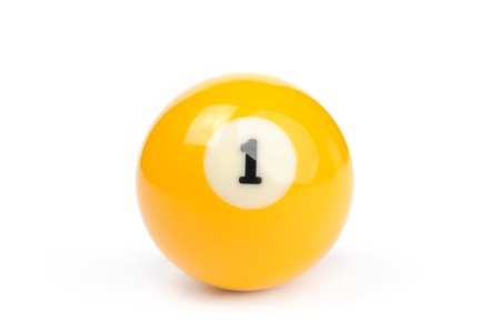 An image of a yellow billiard ball