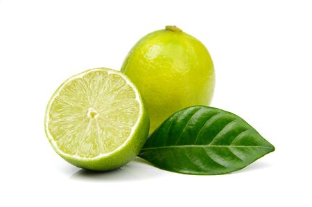 An image of fresh lime on white background
