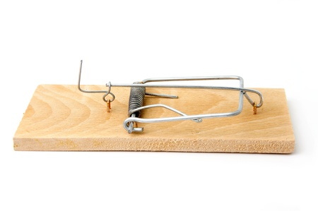 An image of a mousetrap on white background Stock Photo - 14129192