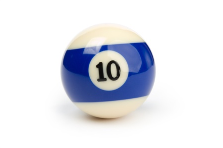 A shiny ball for billiard on white background