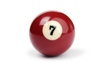 billiard ball number 7 on a white background
