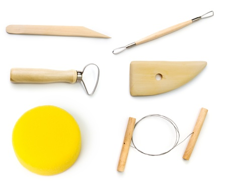 An image of a set of pottery tools