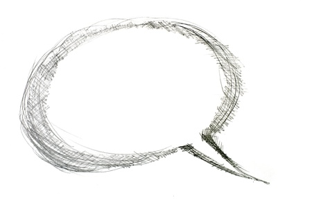 writing instrument: Image of comics bubble on white background