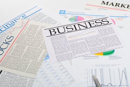 Newspapers: everyday searching for job and business opportunities Stock Photo