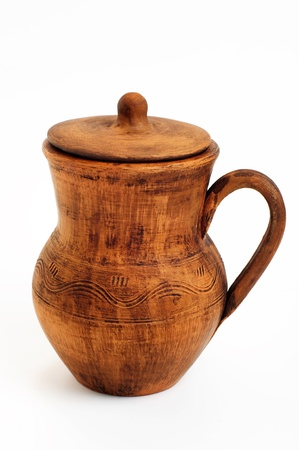 An image of classic ukrainian pitcher on white