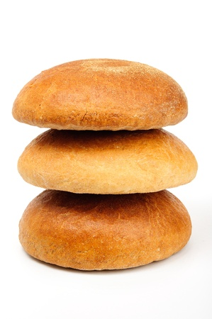 An image of bread on a white background