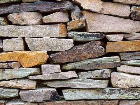 pitting: Old stone masonry,  background image Stock Photo