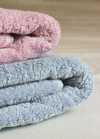 Colored fluffy towels