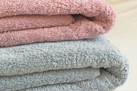 fluffy: Colored fluffy towels