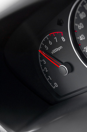 gage: Car speedometer close up