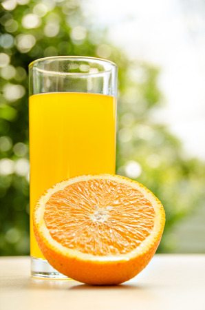 Fresh orange juice. Vitamins for health.