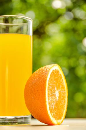 cold cut: Fresh orange juice. Vitamins for health.
