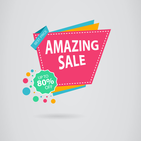 best buy: Colored banner for promotion, advertising and sales. Sale banner design. Illustration