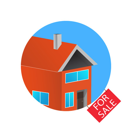 House Flat Icon. For Sale. Design Your Own Apartment. 3d Colorful ...