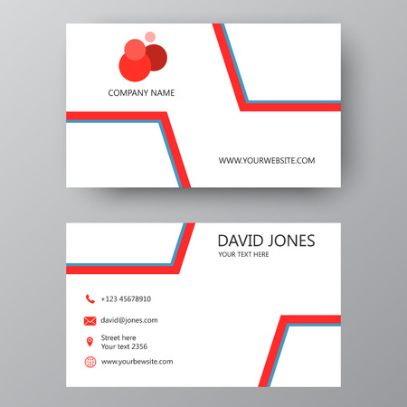 Vector business card template. Visiting card for business and personal use. Modern presentation card with company logo. Vector illustration design. Logo