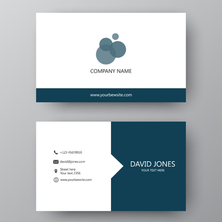 Vector business card template visiting card for business and vector vector business card template visiting card for business and personal use modern presentation card with company logo vector illustration design cheaphphosting Images