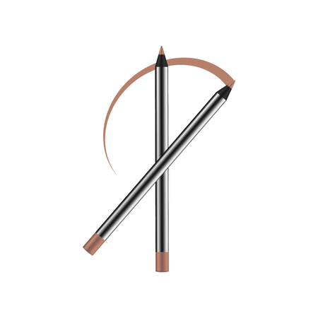 Cosmetics. Eyeliner pencil. Makeup. Realistic 3d mock-up of cosmetics. Vector illustration design. Illustration