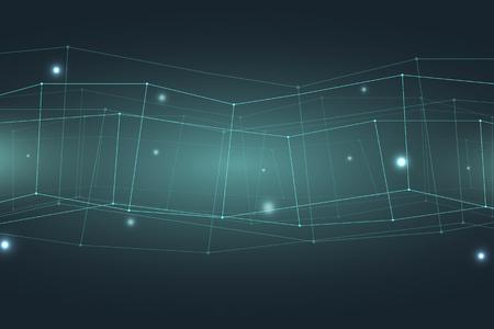 Abstract technology background. Trendy geometric elements. Design. Vector illustration. Data transfer. Energy transfer.