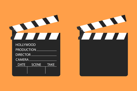 Cinema clapboard  symbol design. Film clapper. Vector illustration concept.