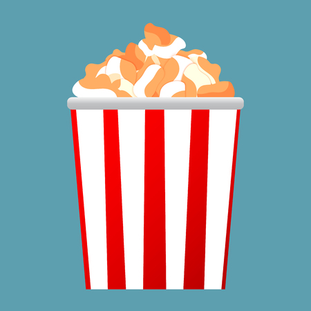 Fresh popcorn icon. Popcorn. Vector illustration symbol design.