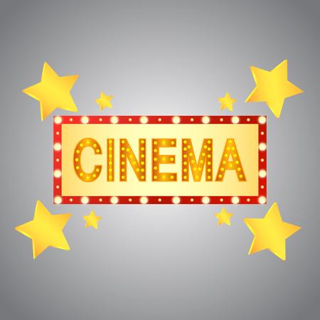 Cinema symbol design with stars.