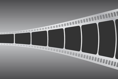 Illustration with film strip.