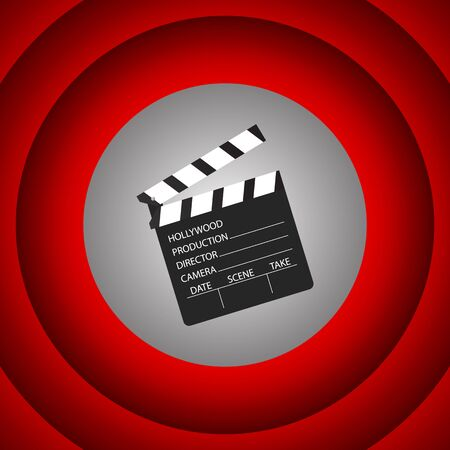 Cinema clapboard symbol design.