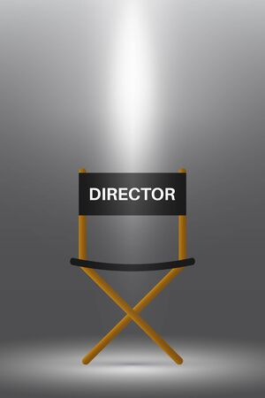 Directors chair under the spotlight.
