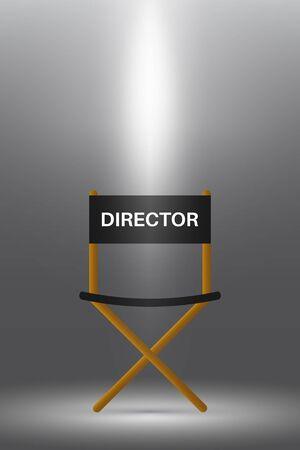 Directors chair under the spotlight.