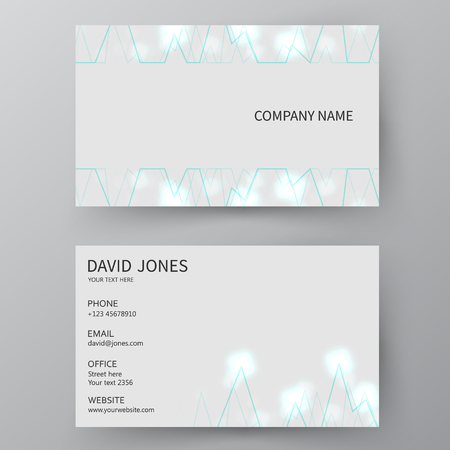Modern presentation card with company icon. Vector business card template. Visiting card for business and personal use.