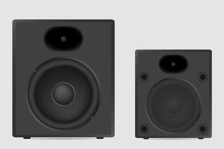Modern acoustic on white background. Musical speaker vector illustration. Illustration