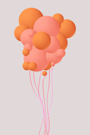 Balloon concept for decoration. Celebration vector illustration design. Colored balloon for holiday celebration.