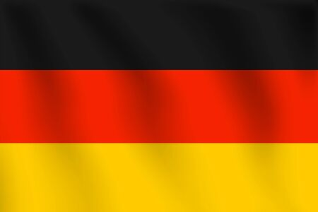 Realistic vector illustration flag. National symbol design. Germany flag.