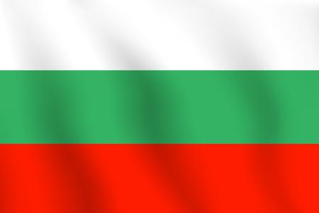 Realistic vector illustration flag. National symbol design. Bulgaria flag.