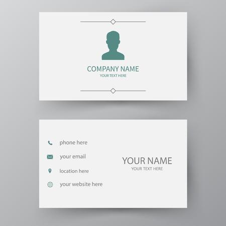 Modern presentation card. Vector business card. Visiting card for business and personal use. Vector illustration design. Ilustração Vetorial