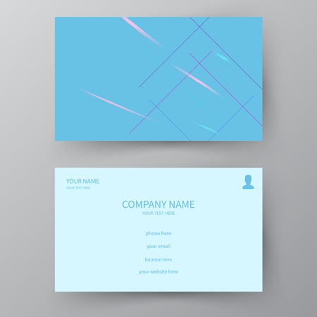 Modern presentation card. Vector business card. Visiting card for business and personal use.  Vector illustration design. Illustration