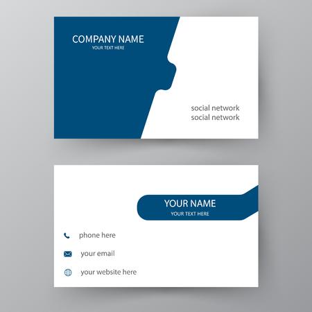 Carta di presentazione moderna. Biglietto da visita vettoriale. Biglietto da visita per uso aziendale e personale. Disegno di illustrazione vettoriale.