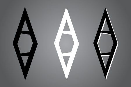 Creative icon vector illustration. Black and white  design. Modern noir style. Stock Vector - 122474662