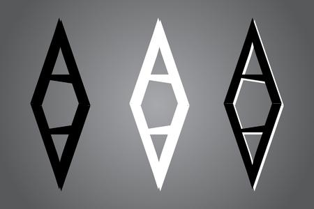 Creative icon vector illustration. Black and white  design. Modern noir style. Illustration