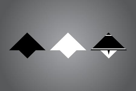 Creative icon vector illustration. Black and white   design. Modern noir style. Stock Vector - 122474666