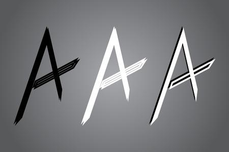 Creative icon vector illustration. Black and white   design. Modern noir style.