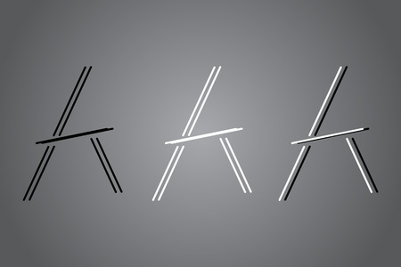Creative icon vector illustration. Black and white   design. Modern noir style. Stock Vector - 122474667