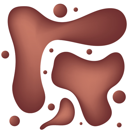 Tasty food design. Delicious chocolate liquid with bubbles. Vector illustration.  イラスト・ベクター素材