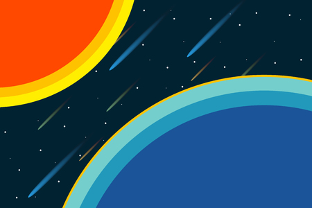 Adventure at universe.  Planet and the space. Vector illustration design.