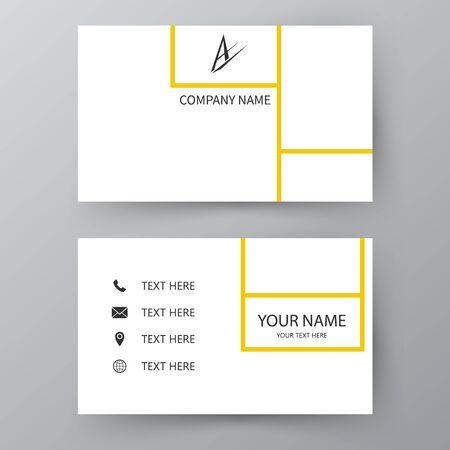 Carte de présentation moderne. Carte de visite de vecteur. Carte de visite à usage professionnel et personnel. Conception d'illustration vectorielle.