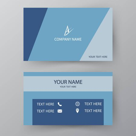 Modern presentation card. Vector business card. Visiting card for business and personal use. Vector illustration design. Vektoros illusztráció