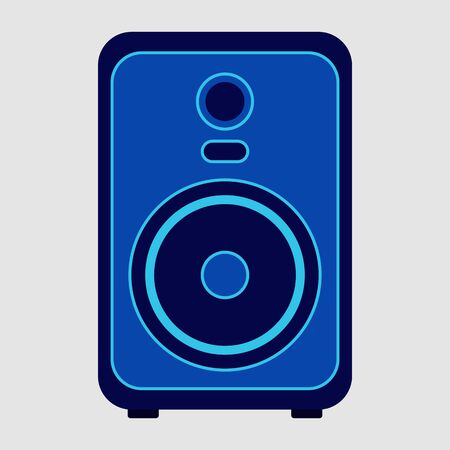 Musical speaker on white background.